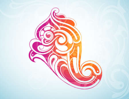 Decorative shape created in tribal art style Stock Vector - 15914298