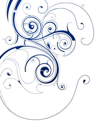 Artistic calligraphic swirls isolated on white Stock Vector - 17184182