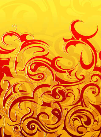 Abstract background with decorative swirls as design elements Vector