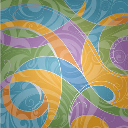 Abstract background with decorative swirls as design elements Stock Vector - 17184266
