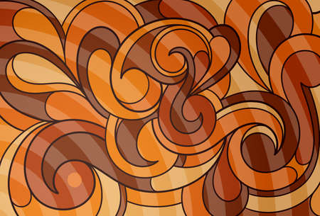liquid chocolate: Abstract background with decorative swirls as design elements