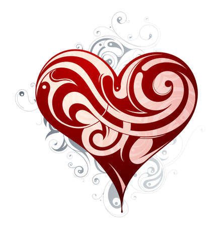 tattoo design: St. Valentines holiday related heart shape design