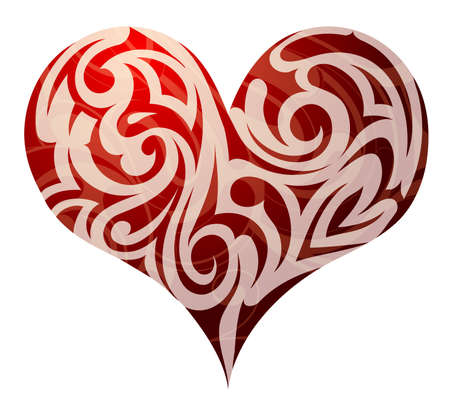 St. Valentines holiday related heart shape design