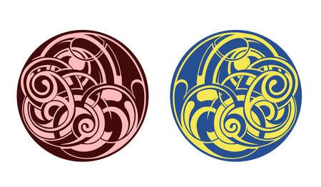 celtico: Decorative tribale arte del tatuaggio isolato su bianco
