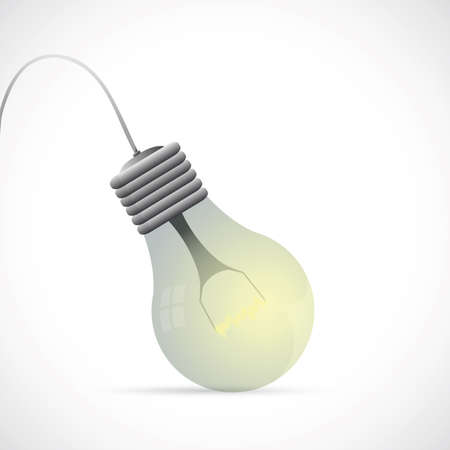 Illustration of lamp bulb on grey backdrop Stock Vector - 18847827