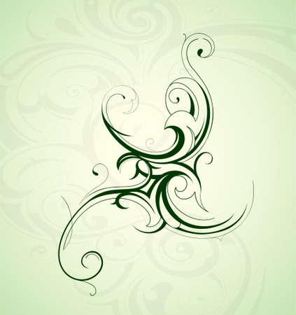 Floral design ornament Vector