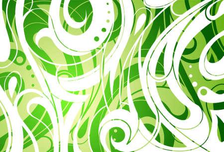 multilayer: Decorative abstraction with floral elements  Multilayer backdrop Illustration