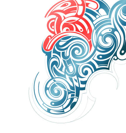 graphical: Graphical abstraction shaped with tribal art elements