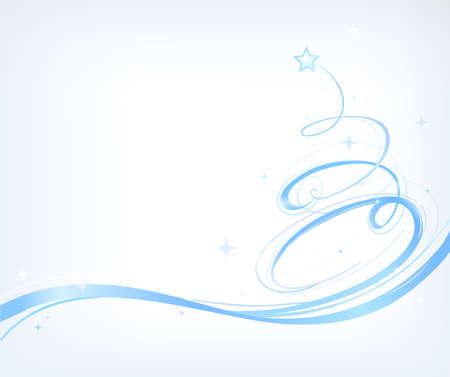 Vector illustration of artistic Christmas tree shape Vector