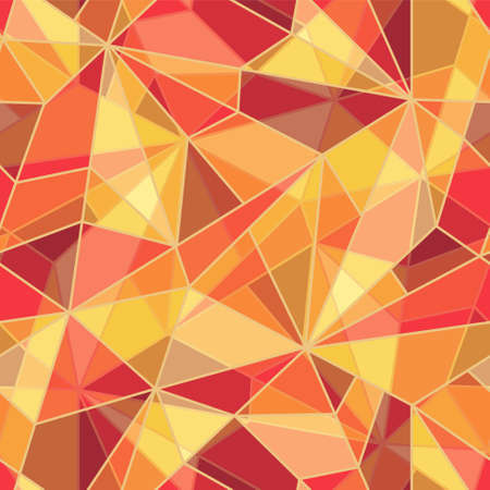 Vector illustration with seamless mosaic pattern   Vector