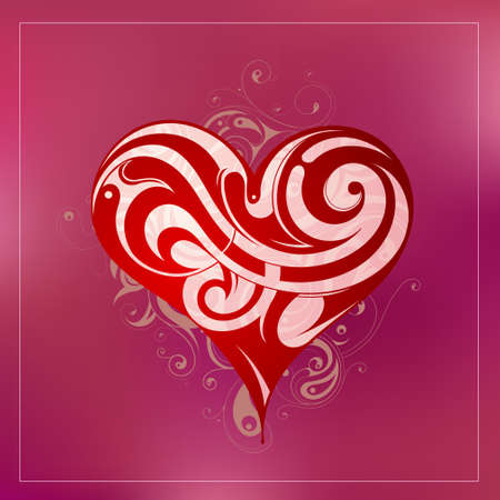 St  Valentines Day related illustration with decorative backdrop Vector