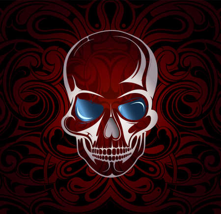 eps10 vector: Vector illustration with the skull and mystic backdrop. EPS-10