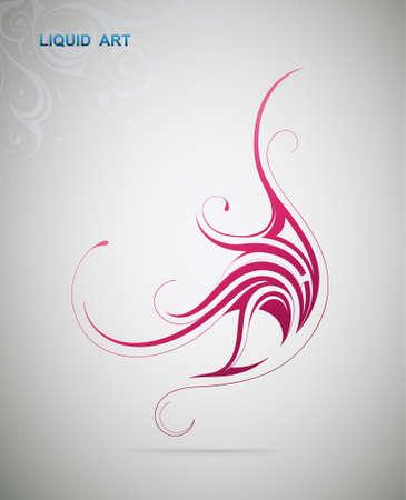 Graphic design element. Liquid art Vector