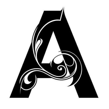 chapiteaux: Forme d�corative de lettre isol�. Un type de police Illustration