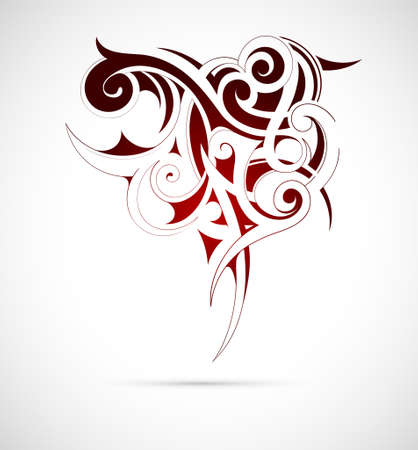 Vector illustration of the Gothic tribal art Vector