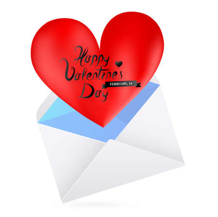 st valentines day: St. Valentines day greeting card template. Love letter.