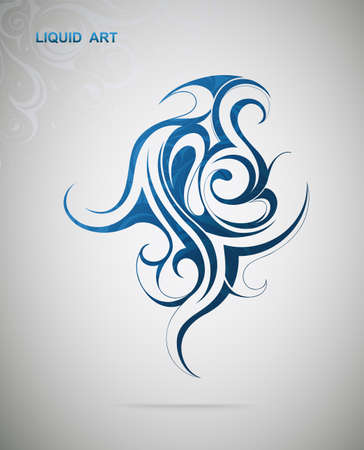 Vector illustration with graphic design element. Liquid art Vector