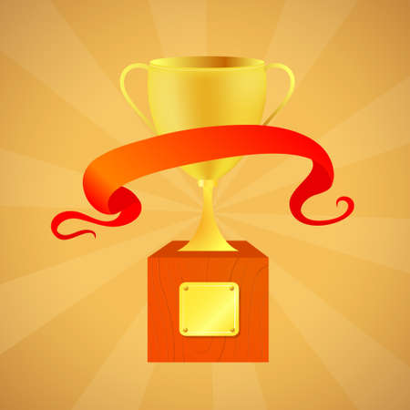 dingbat: Vector illustration of the prize cup with dingbat