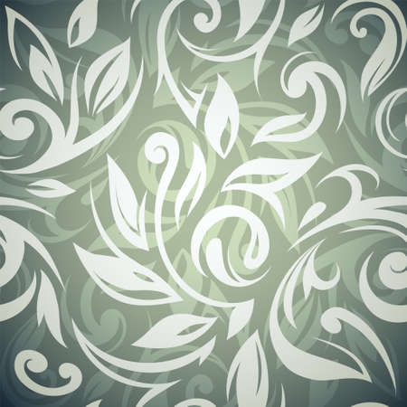 elegant backgrounds: Vector illustration template of seamless wallpaper ornament