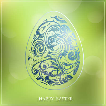 symbolics: Decorative greeting card with Easter holiday symbolics. EPS-10