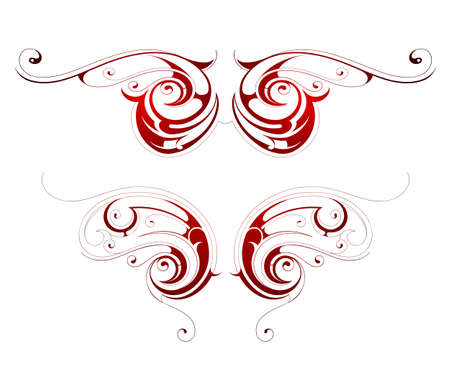 Tribal tattoo wings Vector