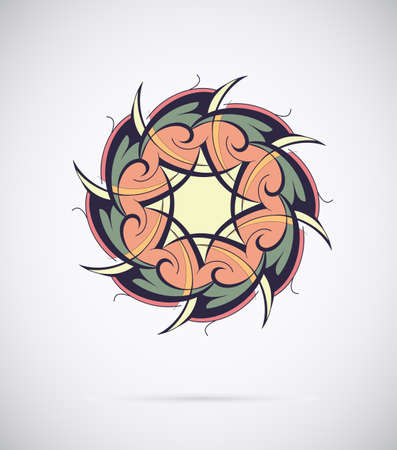 Abstract design element with ethnic ornament Vector
