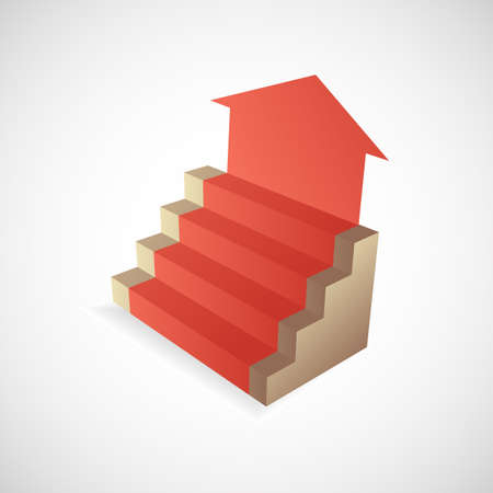 Steps to success concept illustration Vector