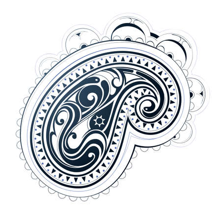 Decorative mehndi ornament Vector