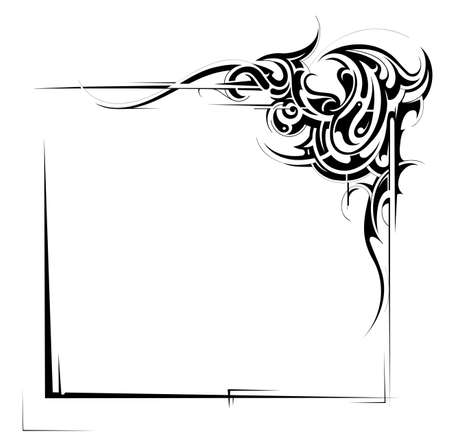 Decorative frame with ornament and copy space Vector