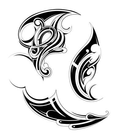 Set of various tattoo ornaments with ethnic elements Vector
