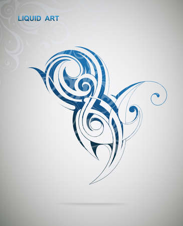 spiral: Liquid art. Grafisch ontwerp element Stock Illustratie