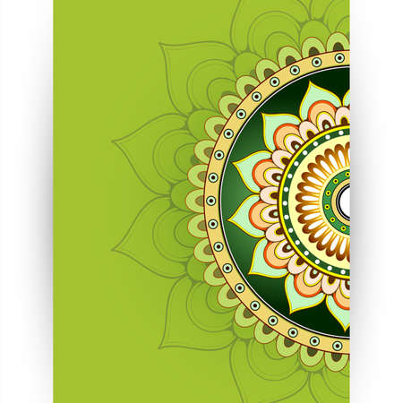 vector sample: Invitation card template with decorative floral ornament and copy space Illustration