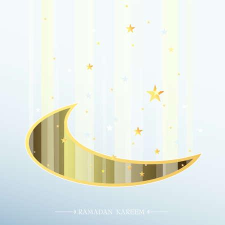 croissant de lune: Croissant de lune artistique mois sacr� musulman du Ramadan.