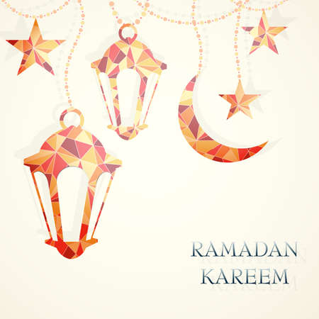 Ramadan greeting card design.