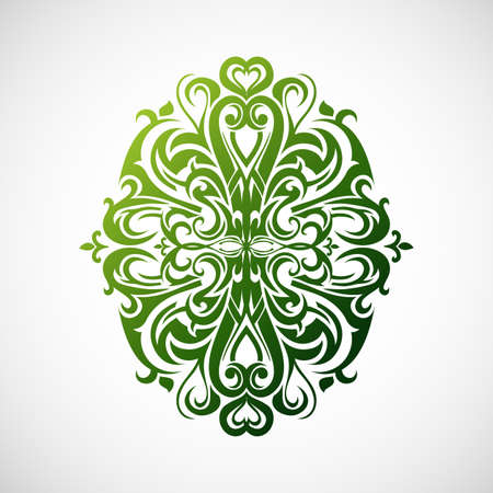 florish: illustration for decorative abstraction with floral elements