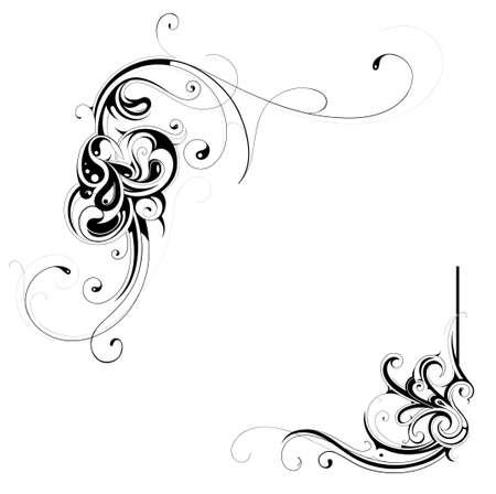 Illustration For Floral Frames As Design Element Royalty Free ...