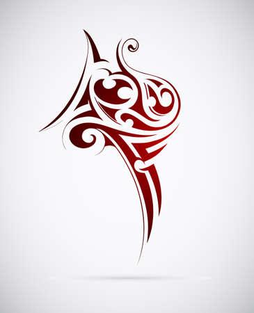illustration of maori tribal tattoo design Vector