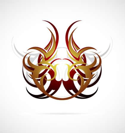Elegant ethnic tattoo design
