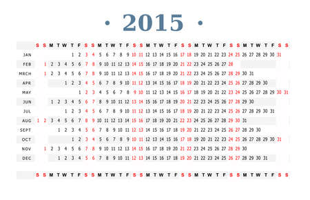 Horizontal Vector Template For Calendar 2016 Leap Year Royalty Free