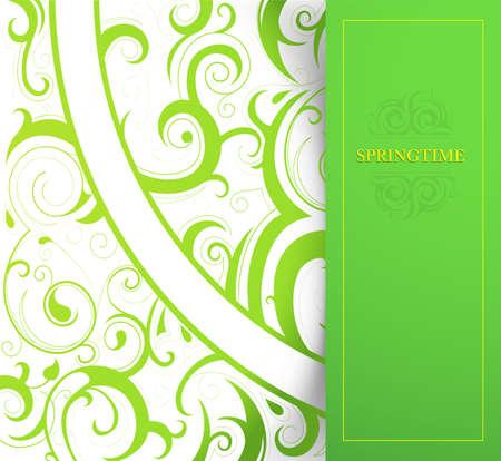 springtime: Graphic design template card with springtime decoration
