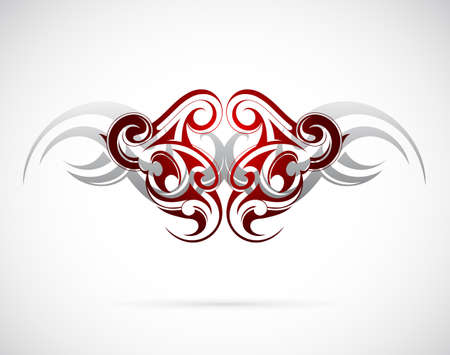 Elegant ethnic tattoo design Vector