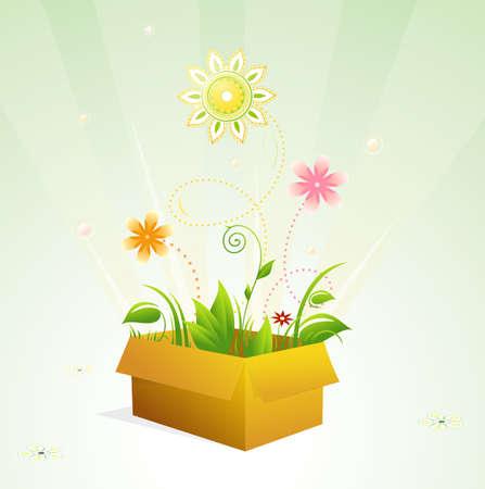 spring out: Brotar� de la concepci�n gr�fica de caja.
