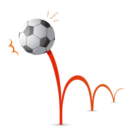 Bouncing soccer ball cartoon Illustration