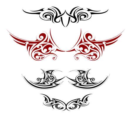 защитник: Набор различных татуировки декоративными крыльями