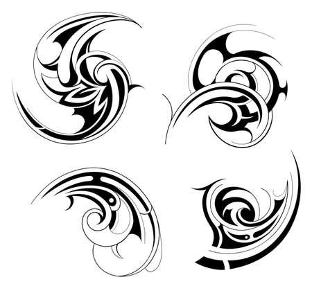 Conjunto tatuaje tribal