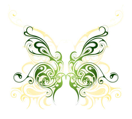 butterfly tattoo design: Artistic illustration with butterfly tattoo design