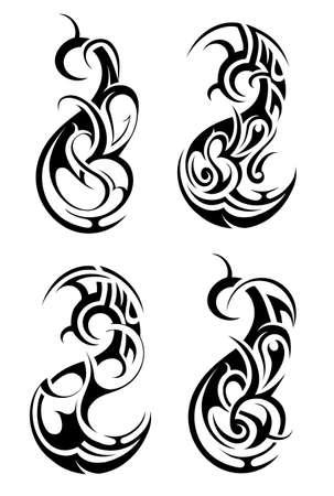 celtic tattoo: Artisti vector illustration with tribal tattoo designs Illustration