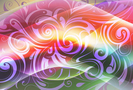 Abstract ornament with floral elements. EPS-10 Vector
