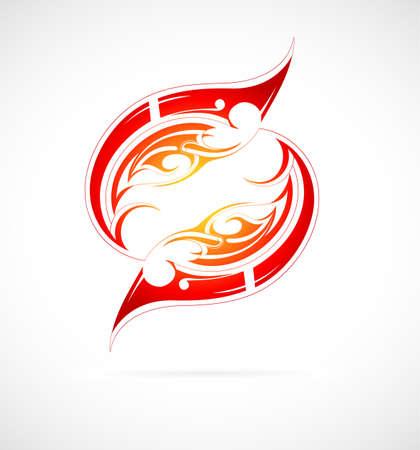 fuoco e fiamme: Fuoco tribale forma tattoo fiamme Vettoriali