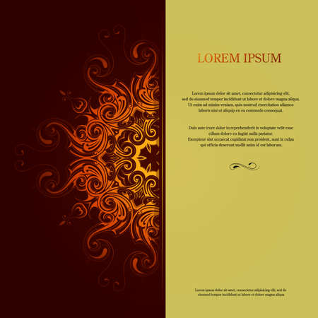 invitation card: Invitation card design with orient elements. EPS-10
